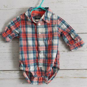 Oshkosh Plaid Button-down Shirt 12m